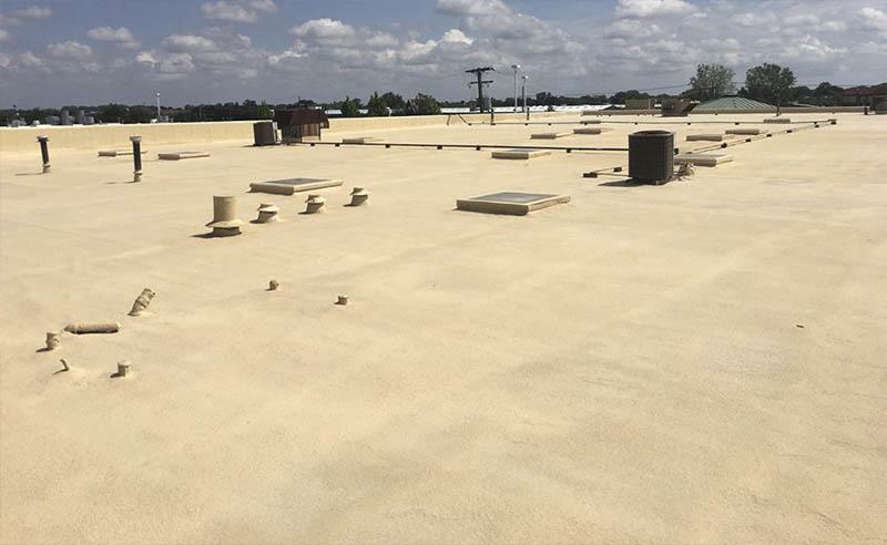 spray foam flat roofing